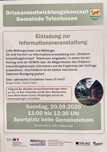 EInladung zur Informationsveranstaltung Dorfentwicklungskonzept